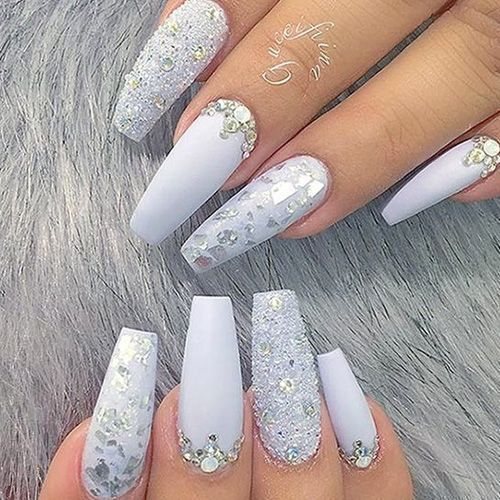Wedding Nails for Bride Coffin