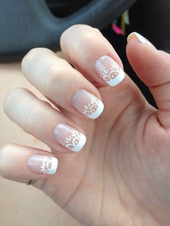 Wedding Nails for Bride Lace Design for Wedding day