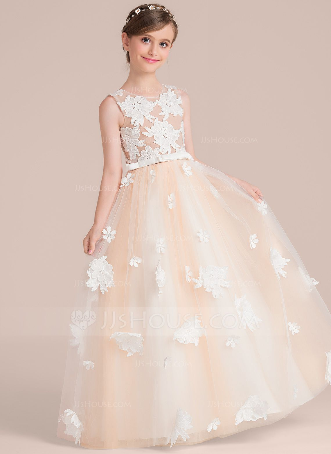 Wedding dresses for girls Ball Gown Floor Lengt Girl Dress