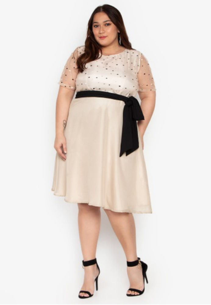 White Plus Size Cocktail Dresses