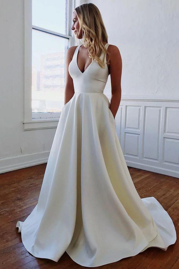 White Wedding Dresses Elegant Beautiful