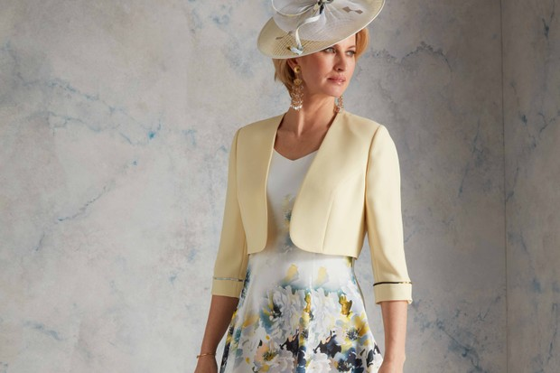 Yellow Flower Mother of the Bride Outfits