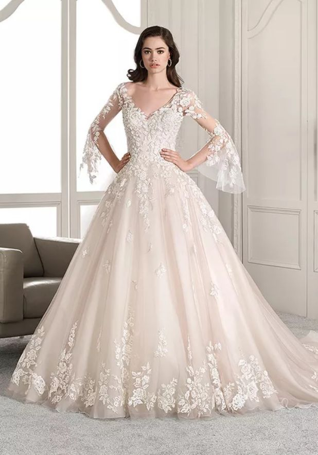 wedding dresses beaded sleeves