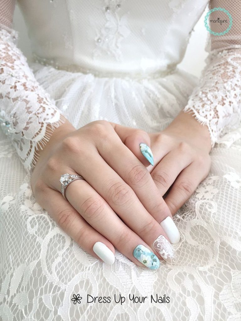 wedding nails for bride manicure nail art design